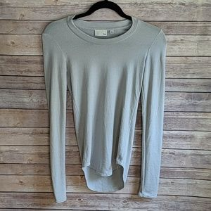 Wilfred Free Gray Long Sleeve Top Super Soft